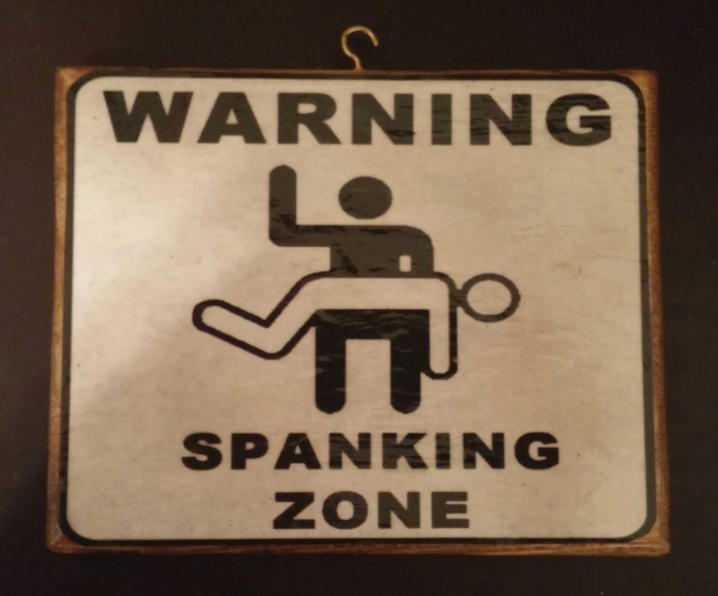 Warning - Spanking Zone Plaque