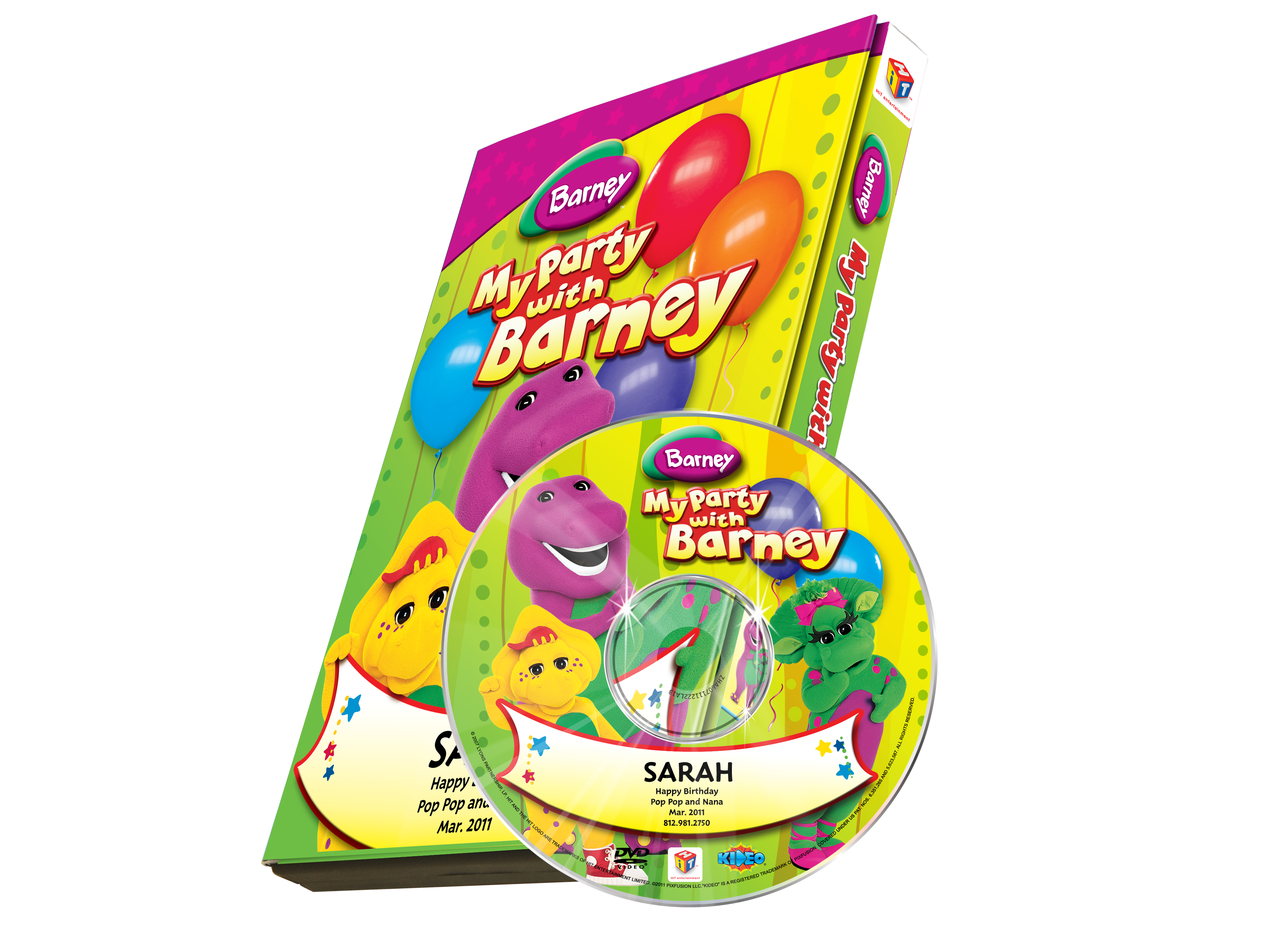 My Party With Barney DVD