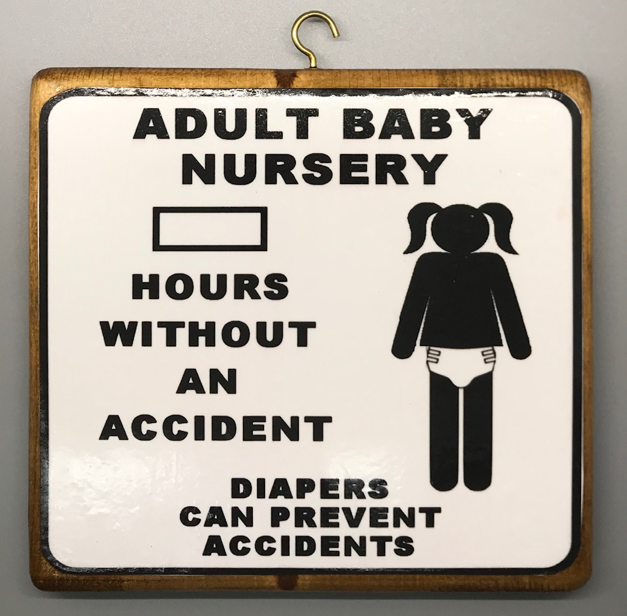 Hours Without an Accident Plaque - Girl Version