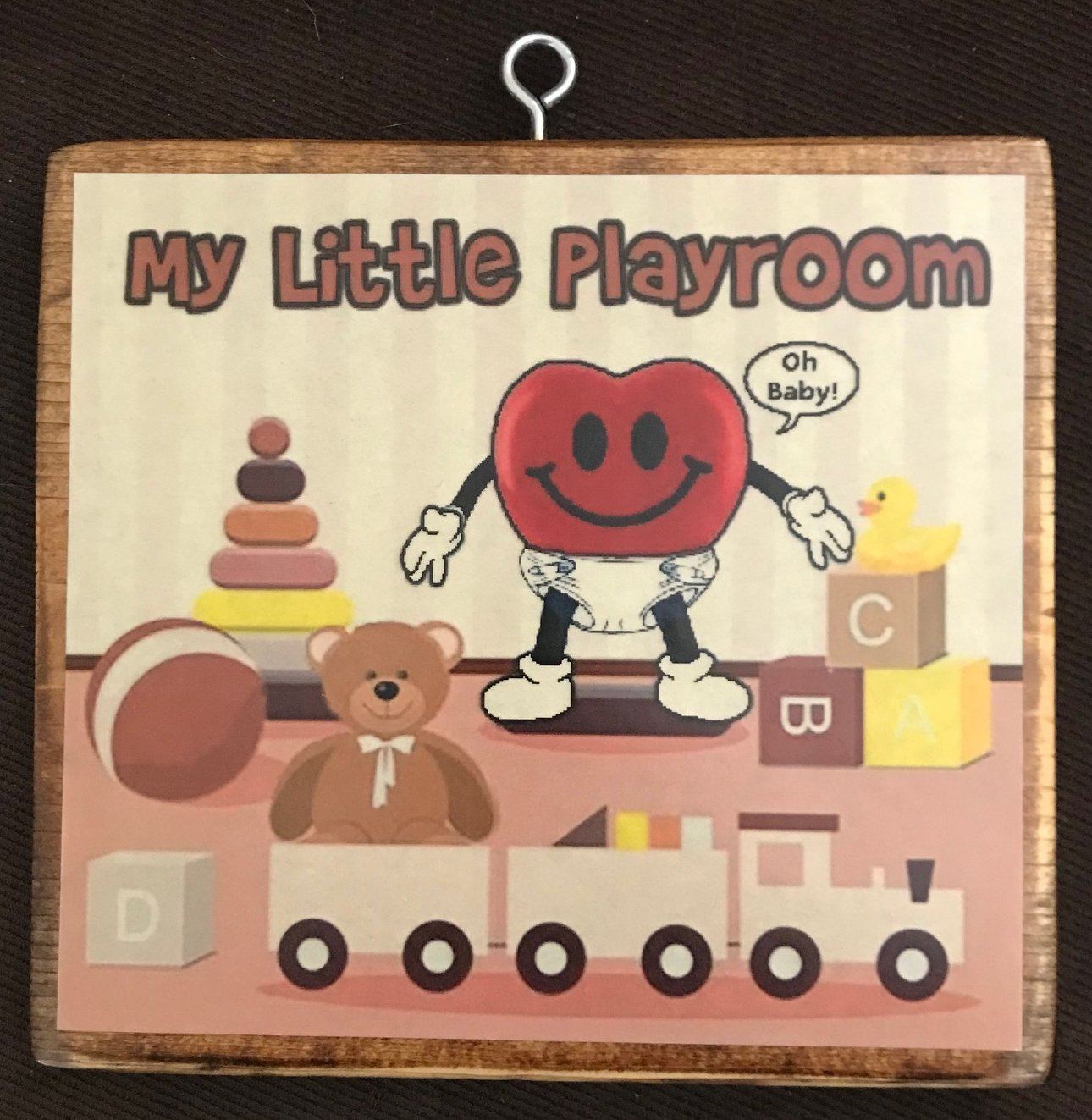 My Little Playroom Plaque
