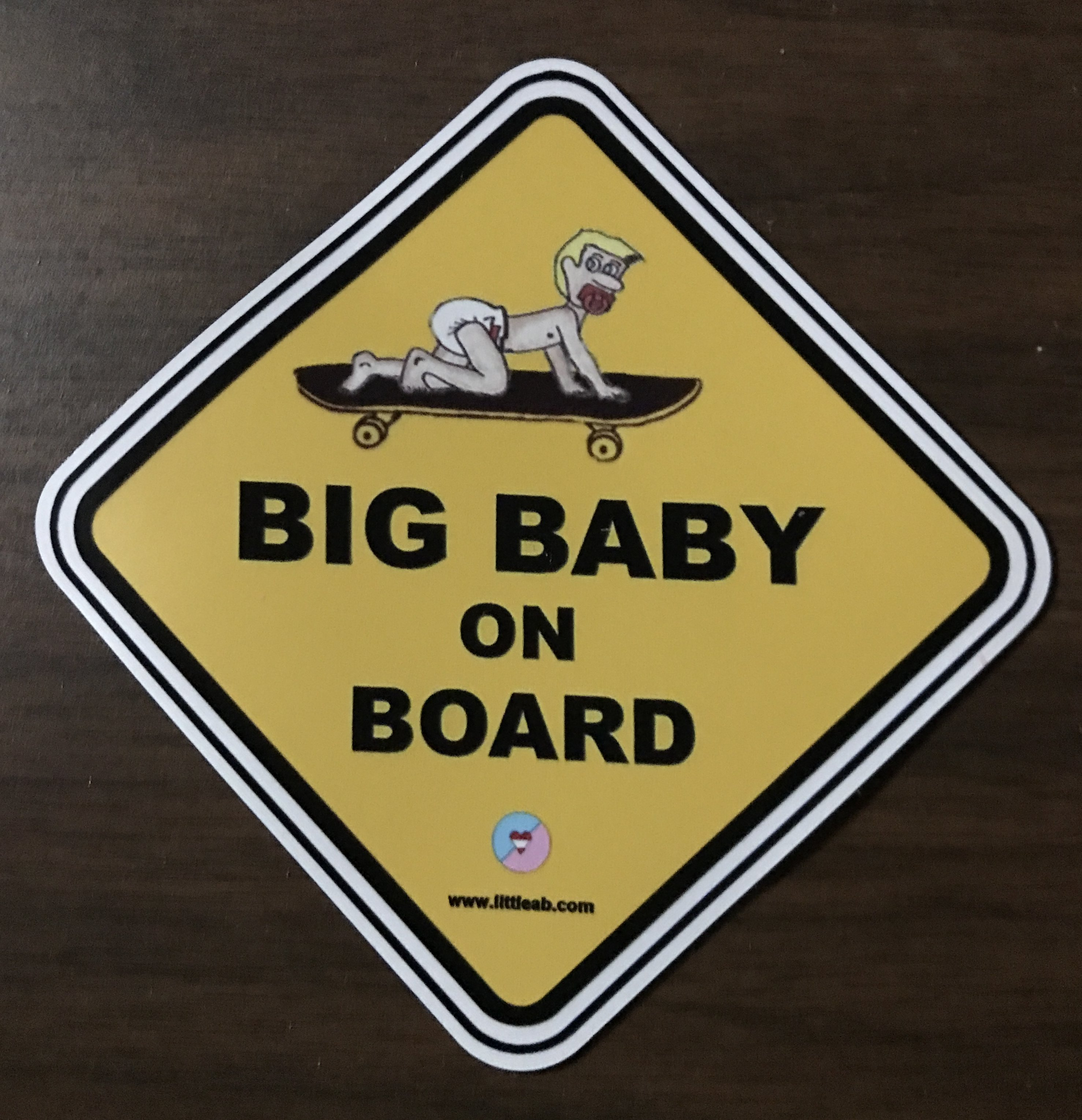 Big Baby On Board Magnet.