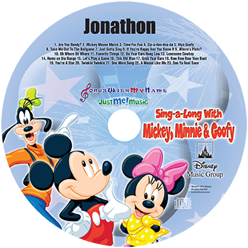 MP3 - Sing Along With Mickey, Minnie and Goofy
